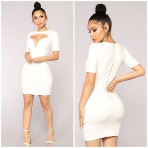 Cutout White Dress